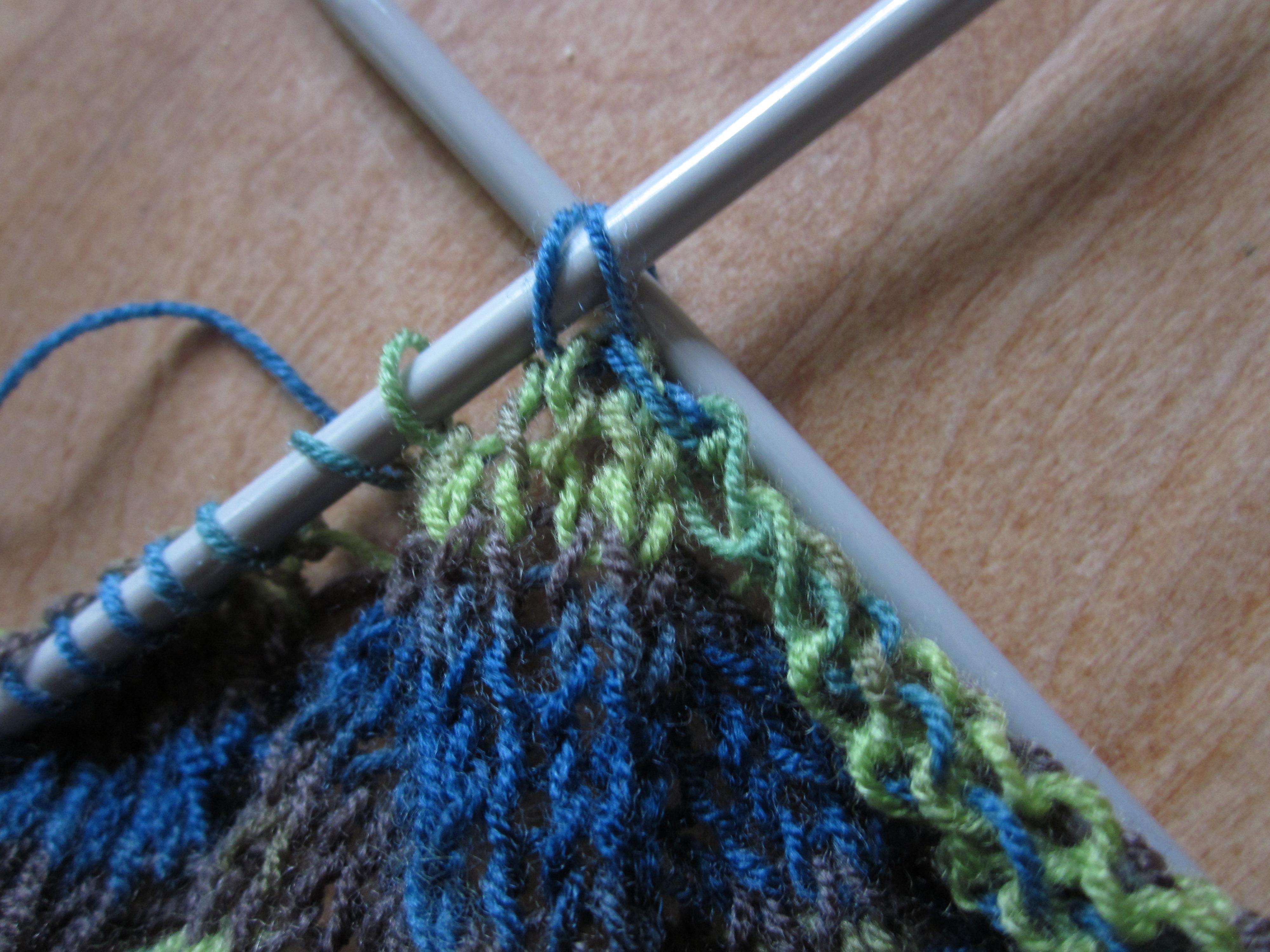 løs aflukning af strikketøj