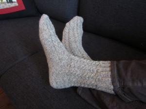 Varme sokker i ren uld